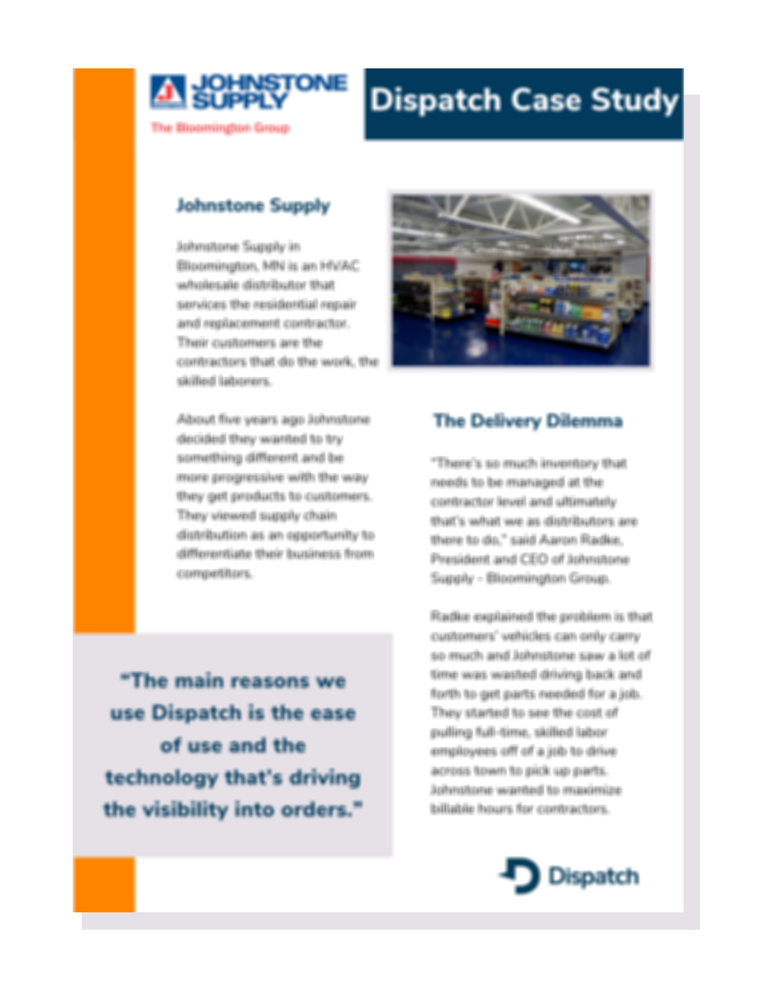 Johnstone Supply Case Study