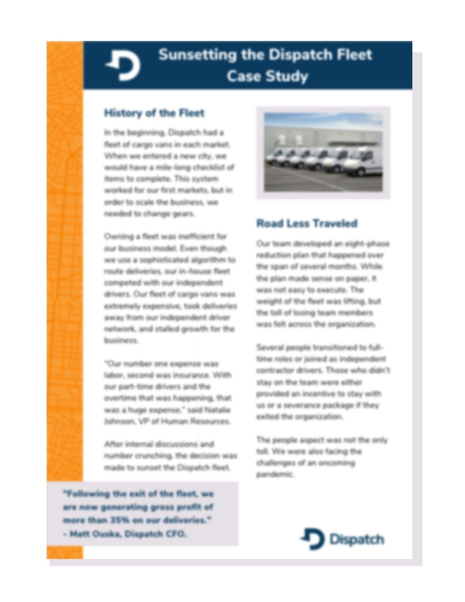 Fleet Exit Case Study Preview
