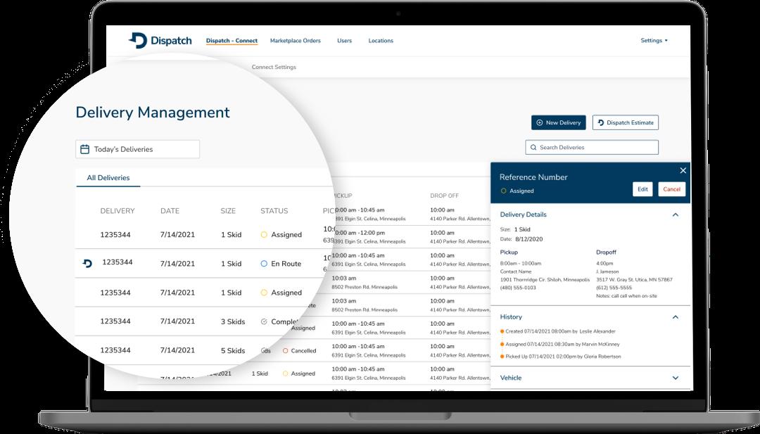 Platform-Connect Delivery Management
